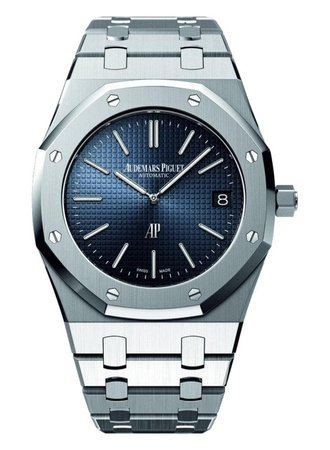 Audemars Piguet gents stainless steel watch with navy dial\\n\\n23/03/2016 16:25