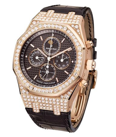 Audemars Piguet rose gold watch with diamond set bezel\\n\\n23/03/2016 16:25