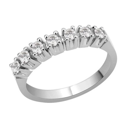 Seven stone claw set round brilliant cut diamond ring in white gold\\n\\n11/03/2016 16:59