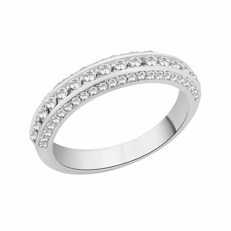 Pave set round brilliant cut diamonds in three rows set in white gold\\n\\n11/03/2016 17:00