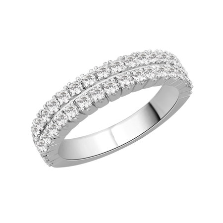 Double row claw set round brilliant cut diamonds set in white gold\\n\\n11/03/2016 16:59